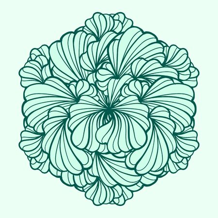 eps 8: Vector floral round design element. EPS 8.