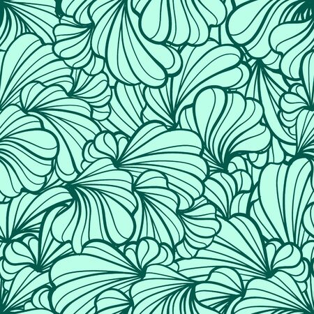 eps 8: Abstract floral shapes vector seamless pattern. EPS 8.