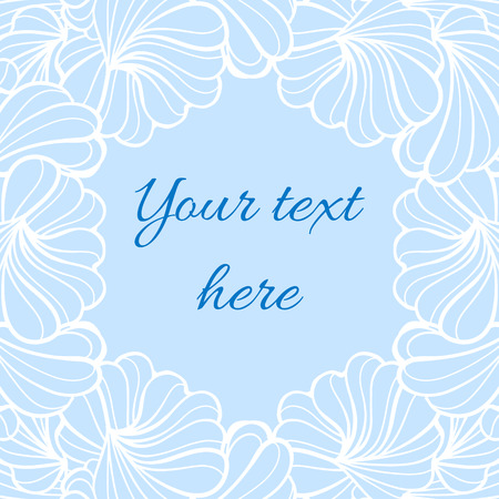 eps 8: Romantic abstract floral shapes vector frame. EPS 8.