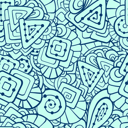 eps 8: Vector hand drawn ethnic seamless pattern. EPS 8.