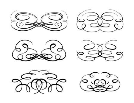 penmanship: Set of elegant flourishes for your design Illustration