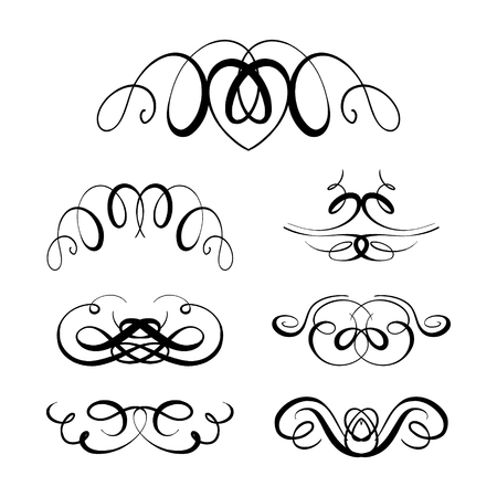 vintage retro frame: Set of elegant flourishes for your design Illustration