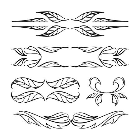 speisekarte: Set of elegant floral elements for your design Illustration