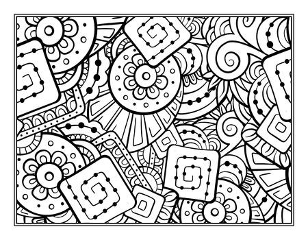 Vector page motif abstrait pour la coloration antistress Vecteurs