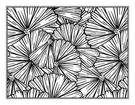 Floral decorative ornamental coloring page for art therapy