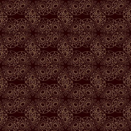 gold brown: lace abstract seamless pattern. Ethnic style background.