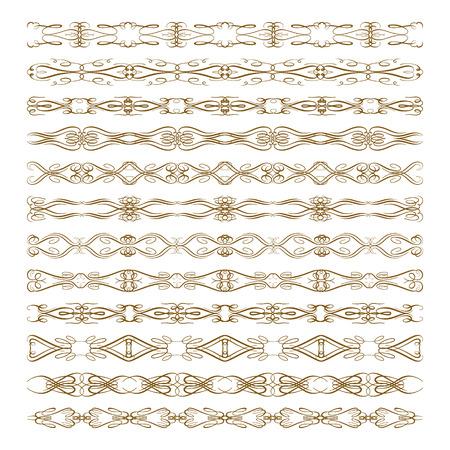 Vintage motif décoratif borders fixé pour votre conception