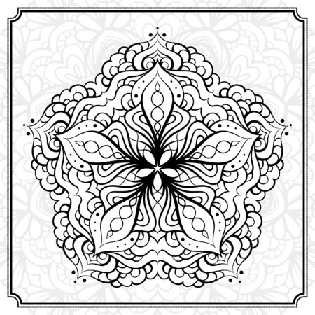 abstact: Vector abstact black and white mandala pattern.