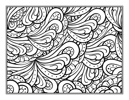 antistress: abstract pattern page for antistress coloring Illustration
