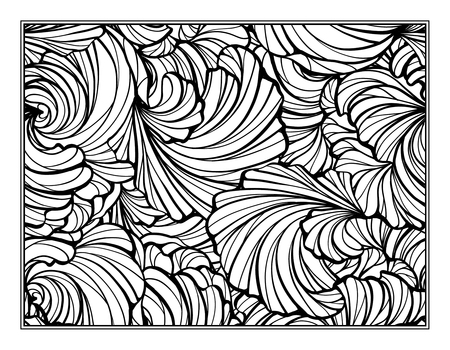 art therapy: Floral decorative ornamental coloring page for art therapy