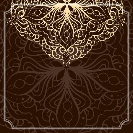 ethnic mandala pattern. Background for greeting card or invitation. Illustration