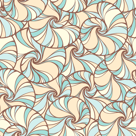 brown pattern: Vector retro colored snails shells seamless pattern.