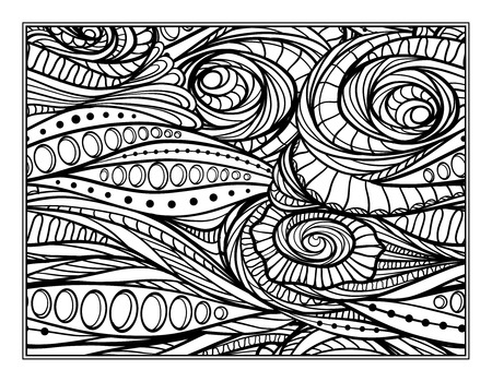antistress: Vector abstract pattern page for antistress coloring