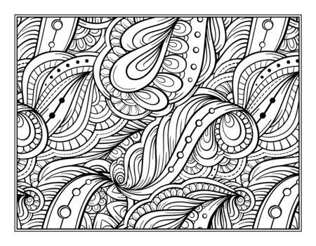 La Página De Resumen Patrón De Coloración Antiestrés Ilustraciones ...