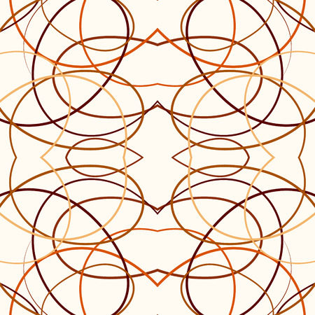 tangle: Abstract reflected tangle lines seamless pattern. Illustration