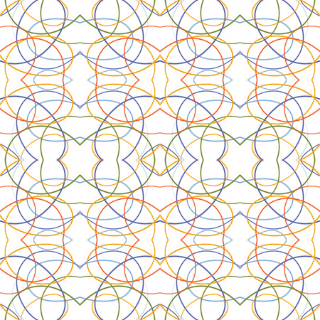 twisty: Abstract reflected tangle lines vector seamless pattern. Illustration