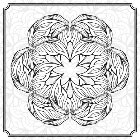 mandala: Vector abstract black and white mandala pattern. Illustration