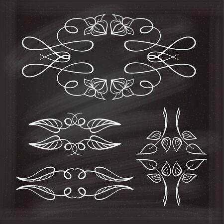 calligraphic design: Vector calligraphic design elements. Illustration