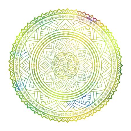 Vector colored ethnic ornamental element Illustration
