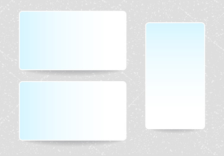 placecard: Vector business cards mock-ups set with rounded corners