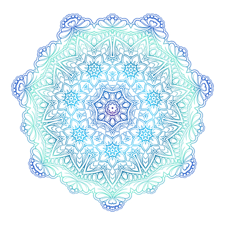 tantra: Vector ethnic mandala on a white background