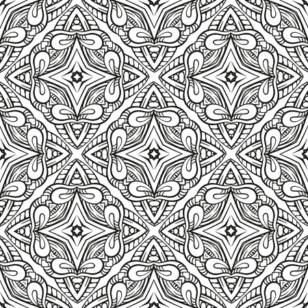 Vector abstract black and white seamless pattern Illustration