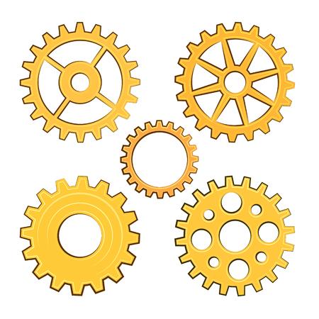 Vector gears set. EPS 10