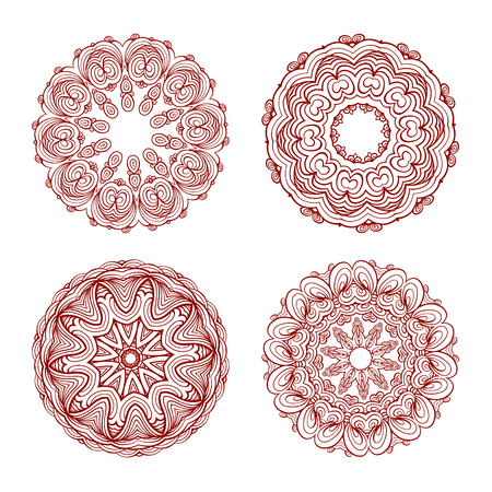Four beautiful orient elements for your design 向量圖像