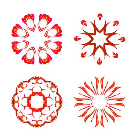 Four beautiful orient elements for your design Ilustracja