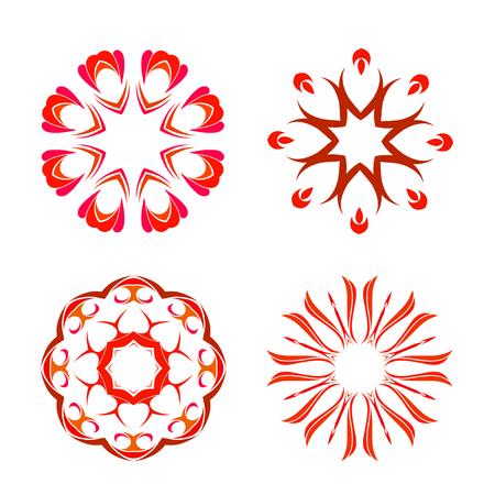 Four beautiful orient elements for your design Ilustração