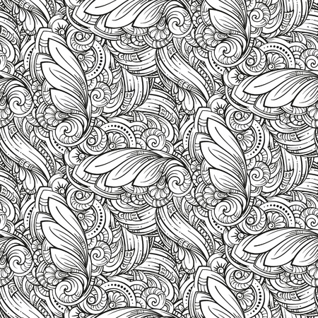 Vector abstract black and white seamless pattern Иллюстрация