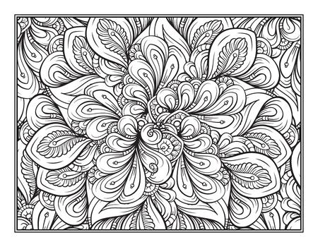 Fantasy decorative ornamental pattern page