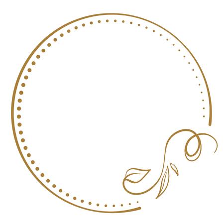 Vector floral vintage frame on a white background. Иллюстрация