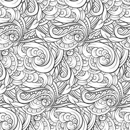 추상 흑백 원활한 패턴 일러스트