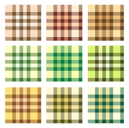 Set of plaid seamless pattern. Illustration