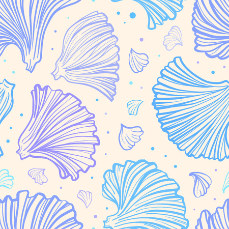 Flower petals vector seamless pattern