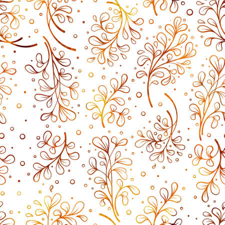 Abstract decorative floral pattern in watercolor style