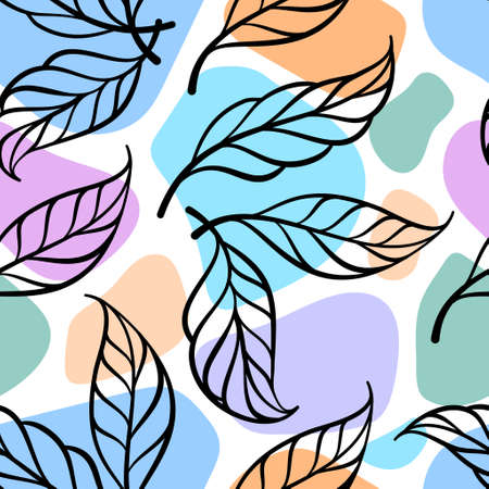 Abstract colotful floral pattern for a spring design. Romantic floral background.