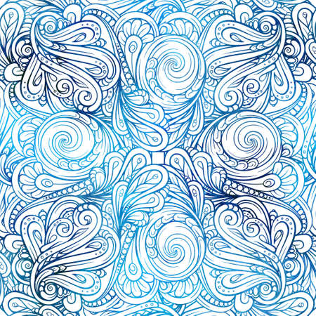 Colorful ornamental seamless pattern. Vibrant doodles vector background. 向量圖像
