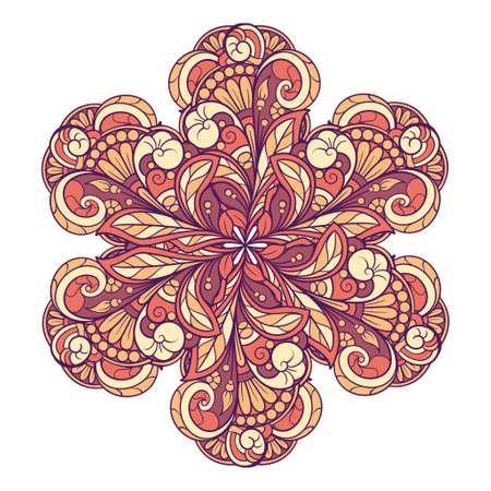 Colorful ethnic mandala ornament. Tribal decorative vector graphic element.