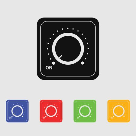 switch on: Vector switch. Switch icon. Onoff icon.