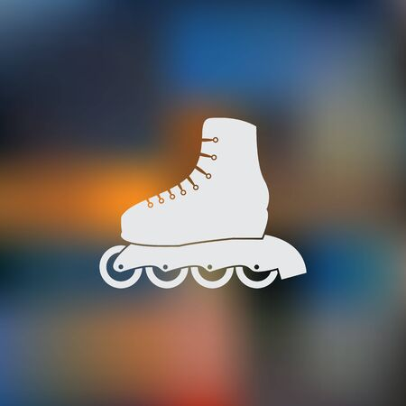 Roller skate sport icon Illustration