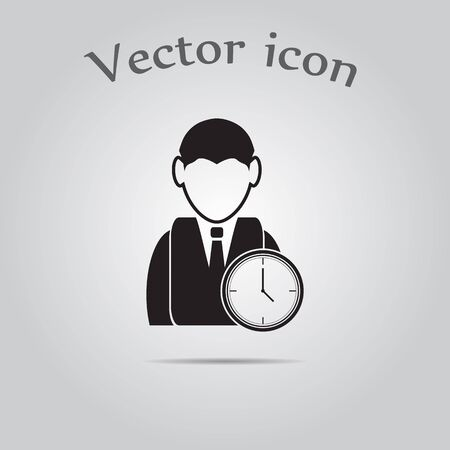 time over: Time for work icon - Over time working icon