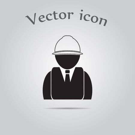 industrial safety: Engineer vector icon