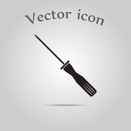 screwdriver: Screwdriver vector icon, Screwdriver cross Illustration