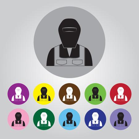 soldador: icono de soldador Vectores