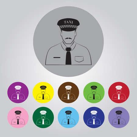 fare: Driver, taxi, icon Illustration
