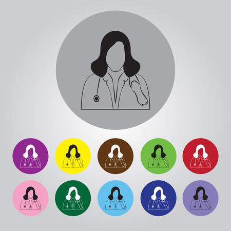 medics: Doctor with stethoscope icon