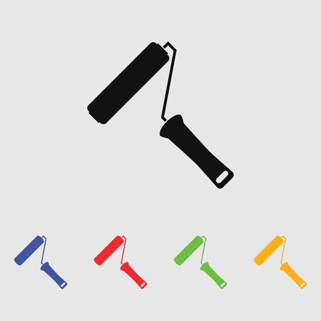 decorating: The paint roller icon. Decorating and painting, repair symbol.