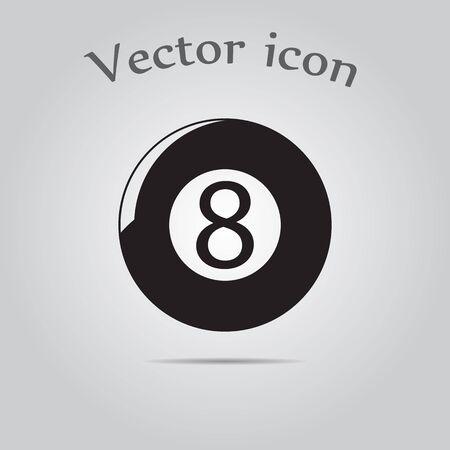 billiard ball: Eight billiard ball sport icon